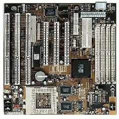 ECS P5SV-B motherboard, socket 7 motherboard baby at 3 isa slots