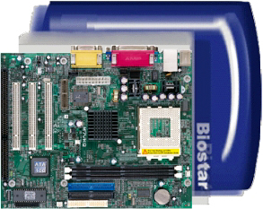 Biostar M7VKQ socket a motherboard with 1 isa slot and 3 pci, micro atx socket a motherboard