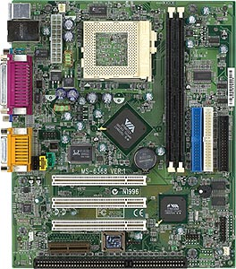 Microstar MS-6368L Motherboard with 1 isa slot