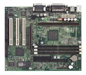 Supermicro P6SBM Motherboard, micro ATX slot 1 motherboard