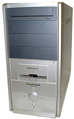 Metallic Silver Medium Tower Computer Case MPE-MD16 with front USB and Firewire ports