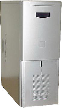 beige Hydraulic medium tower computer case silver