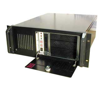 4U Rackmount chassis with eight drive bays, black 4u rackmount case with 8 drive bays,cheap 4u rackmount case
