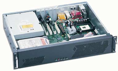 Ultra small 14 inch 2U Rackmount Chassis with full size rear entry CD Rom