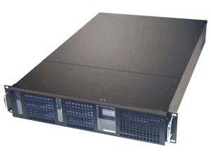 black 2U Rackmount Chassis with 6 1 inch Hot Swappable Drive Bays