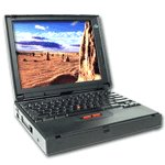 Used IBM Thinkpad 380XD laptop with windows 95