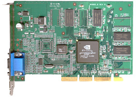 visiontek geforce mx200 32mb agp video card