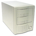 dual bay external case for scsi drives, 2 bay firewire enclosure
